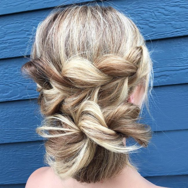 Two Tier Braided Updo