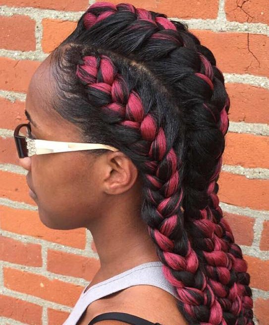Two Toned Goddess Braids