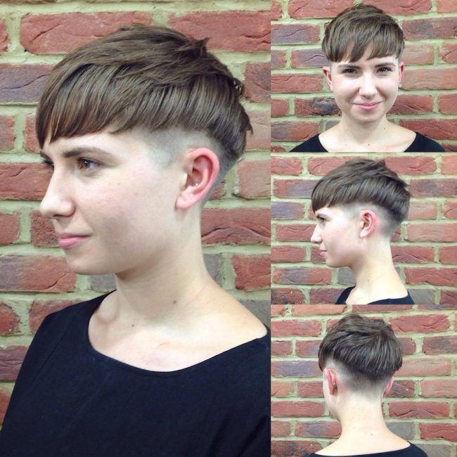 Undercut Fringe with Wavy Locks