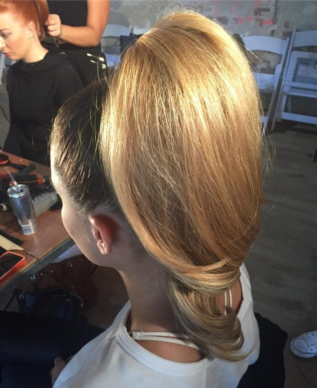 Uplifted High Ponytail
