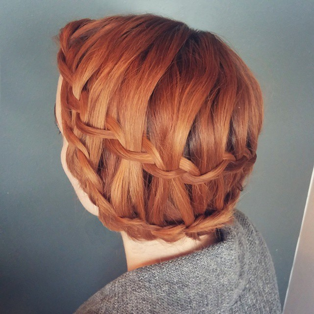 Vintage Updo with Braids