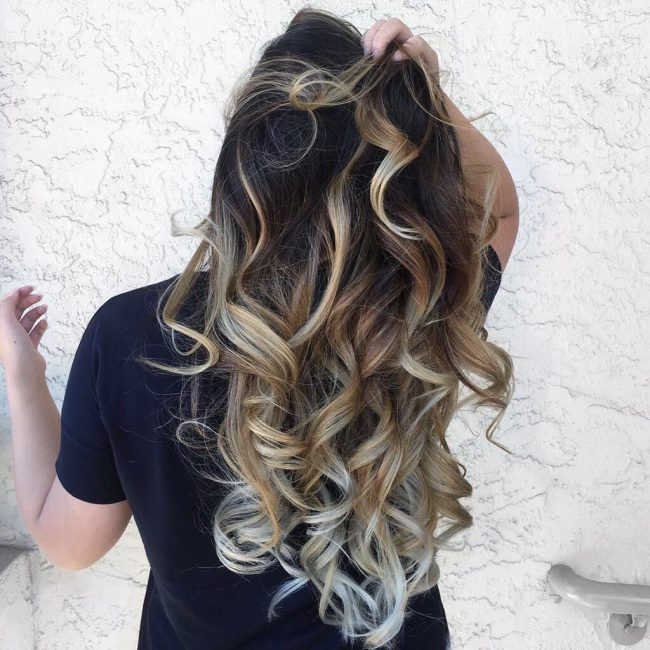 Virgin Blonde Balayage with Icy Tips