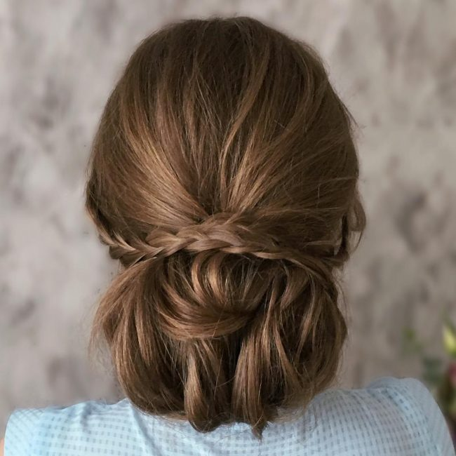 Volumized and Braided Chignon