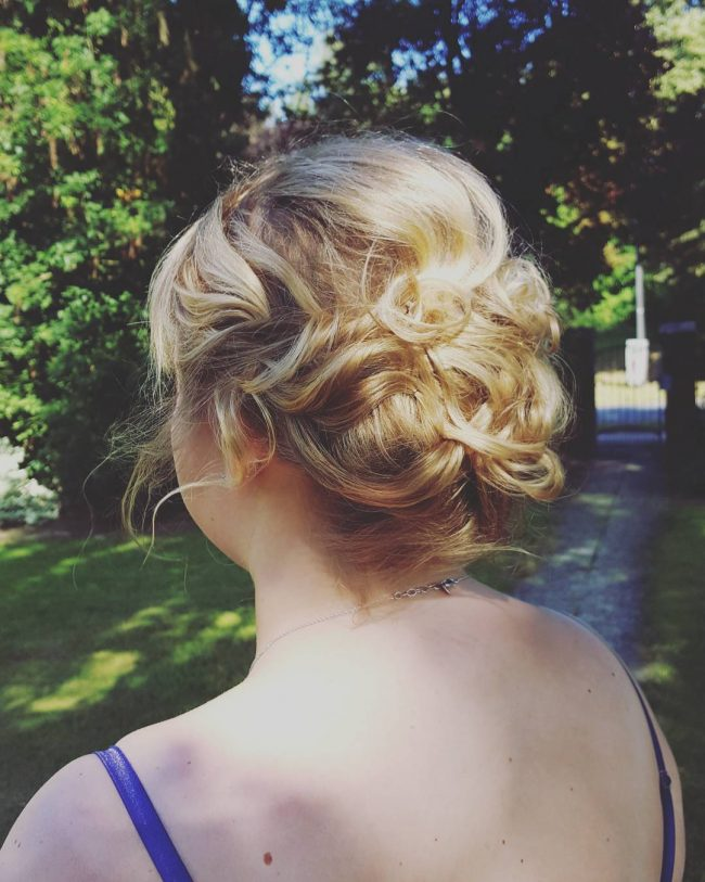 Wavy and Messy Bun