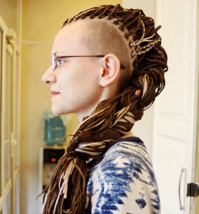 Wrap Around Braided Mohawk