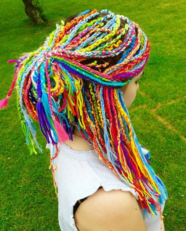 Yarn Twists with Playful Colors
