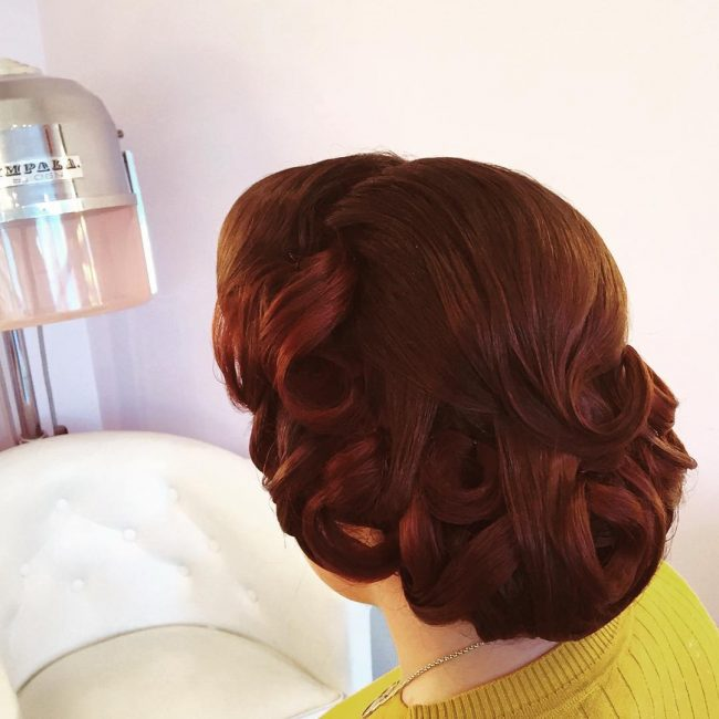 # 19 Pinned Up Finger Waves