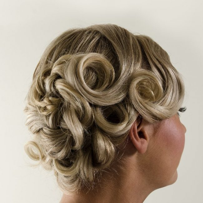 #2 Spiral-Curled Up Style