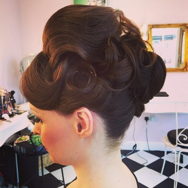 #21 Voluptuous Curly Updo