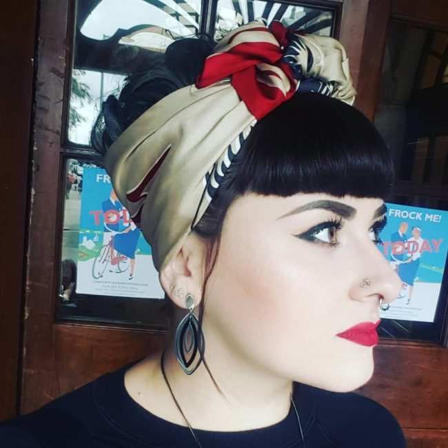 #6 Pretty Bangs with Headscarf