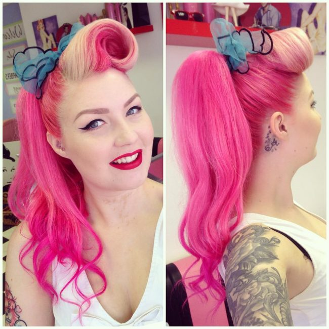 #9 Faux Ponytail with Victory Roll