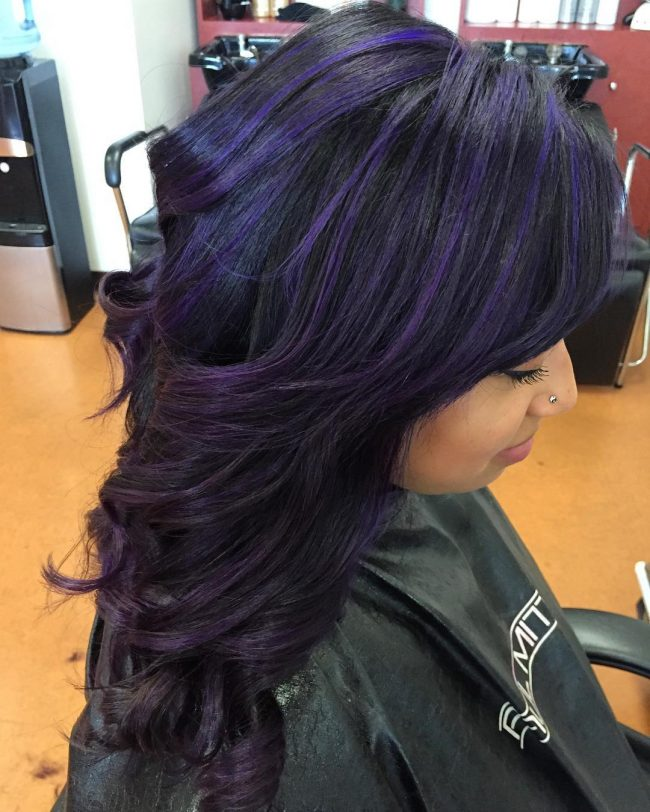 Adorable Purple Streaks
