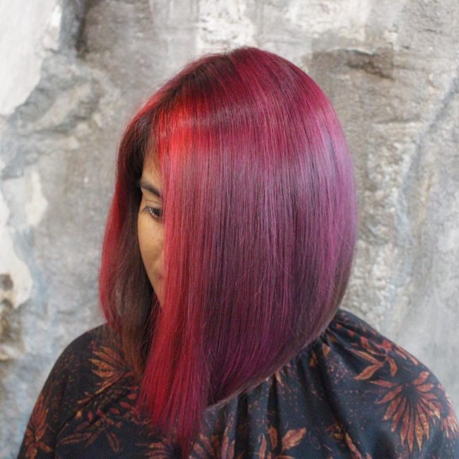 Adorable Red Violet Lob