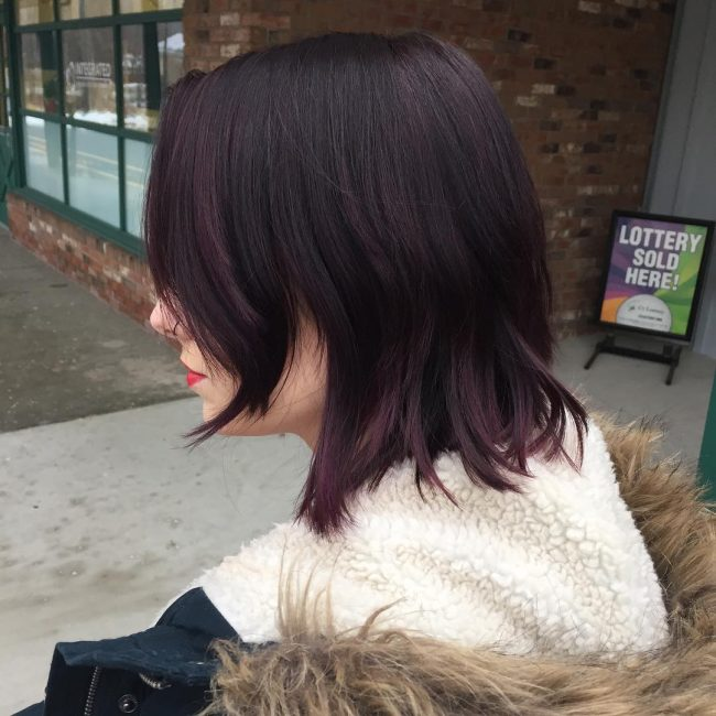Beautiful Brownish Purple Tips