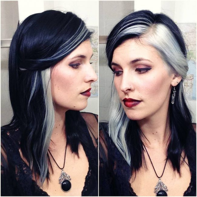 30 trendy two tone hair color ideas � best combinations