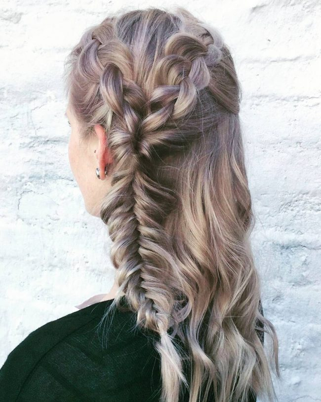 Blonde Side Braid