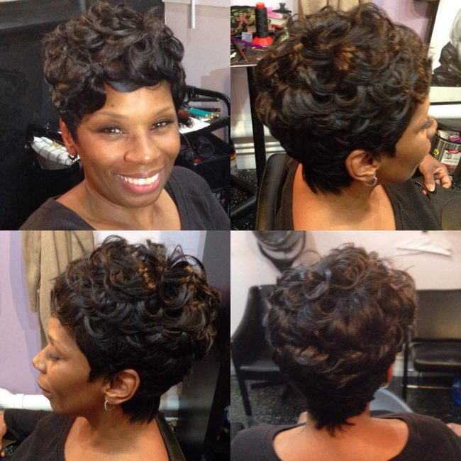 Bouncy Ebony Curls