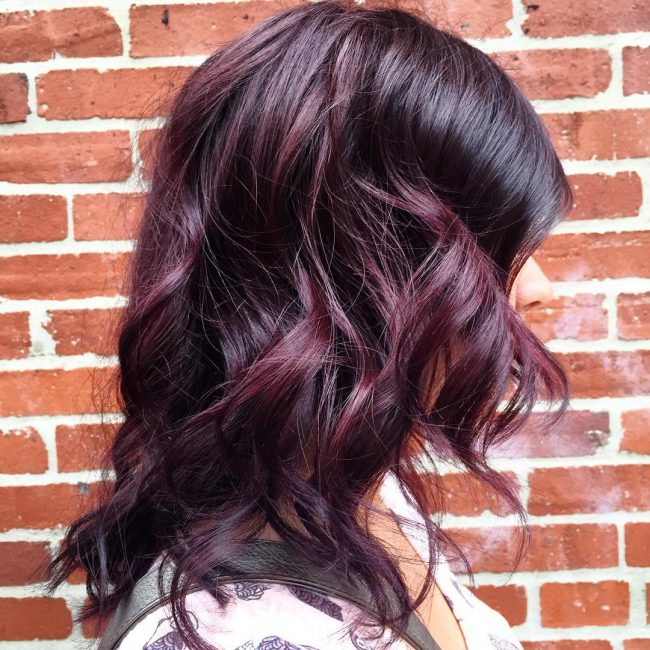 Burgundy Purple Curls