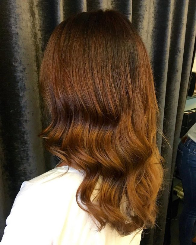 Caramel and Sorrel Balayage Waves
