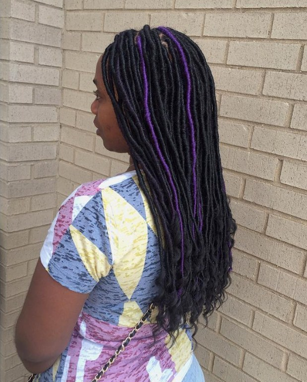 Charming Purple Dreads