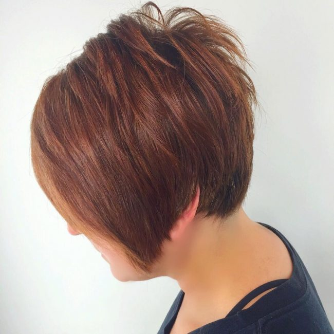 Copper Pixie Cut