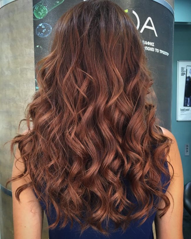 Copper Shimmer Waves