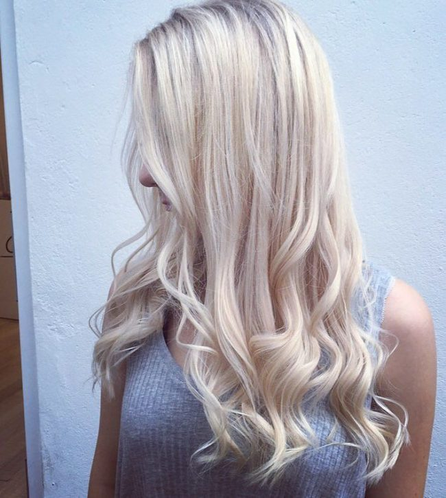 Curly Ice Blonde Hair