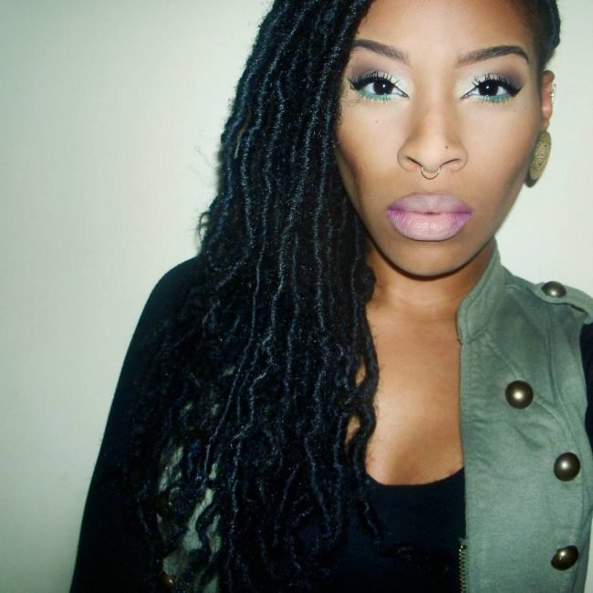 Dark Toned Curly and Kinky Locs