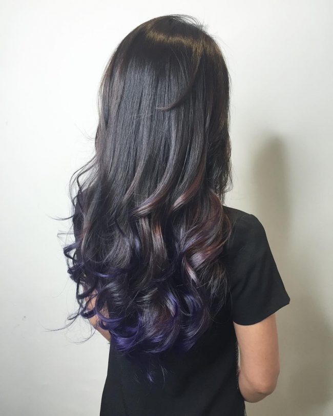 Dark Violet Brown Locks with Subtle Purple