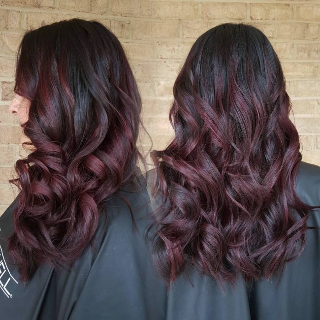 Dark and Curly Ombre