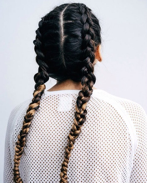 Dutch Braid Pigtails