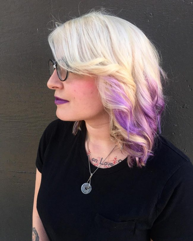 Easy Purple Ombre Balayage