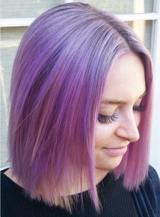 Edgy Color Melted Bob
