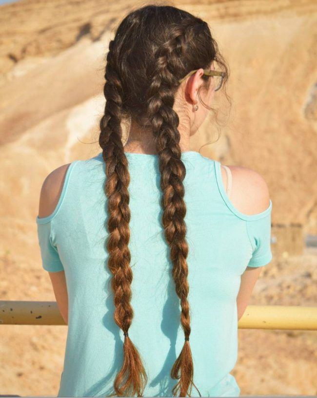 Extra-Long Double Dutch Braids