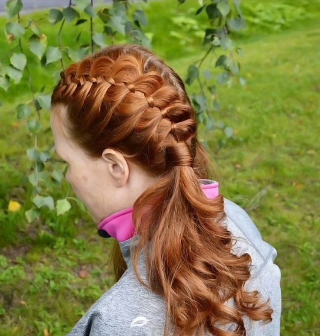 Four-Strand French Braid Pigtails
