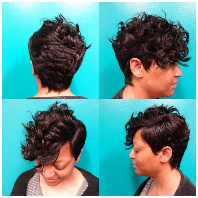 French-Parted Short Weave
