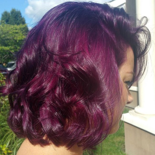 Glamorous and Classy Purple for Short Hair