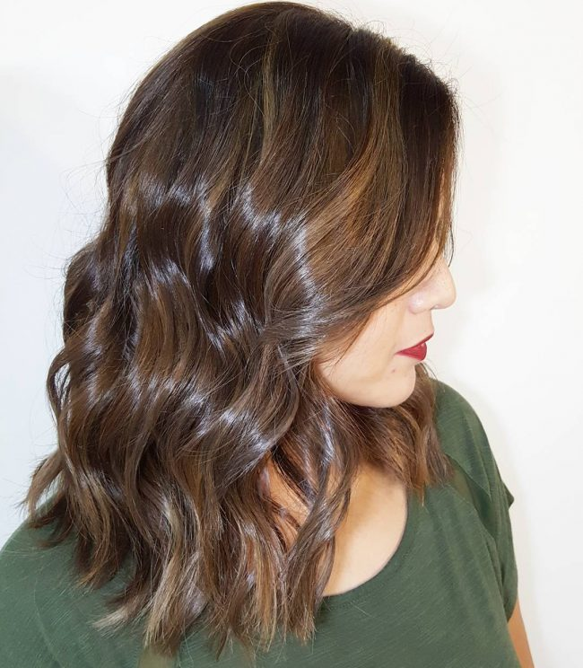 Glossy Brown Waves