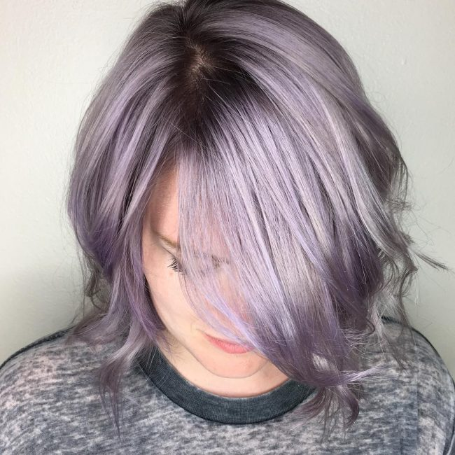 Glossy Silver Lilac