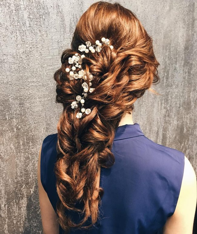 Gold Quinceanera Hairstyle
