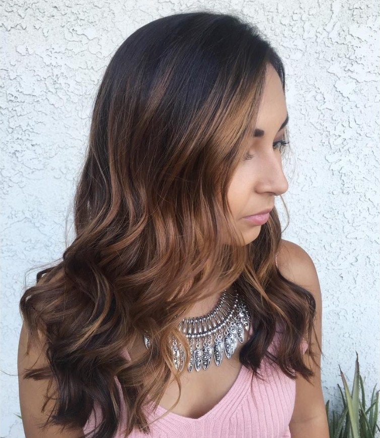50 delightful dark and light golden brown hair color ideas - Balayage braun caramel ...