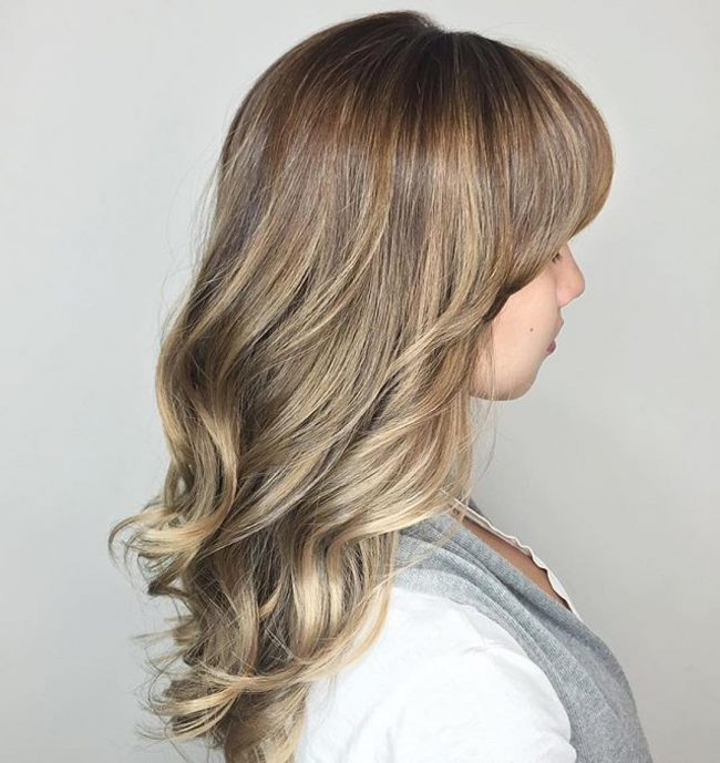 Golden Brown and Champagne BalayageGolden Brown and Champagne Balayage