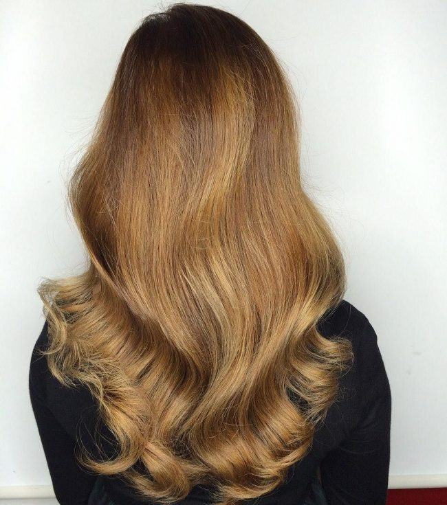 Golden V-Shaped Waves