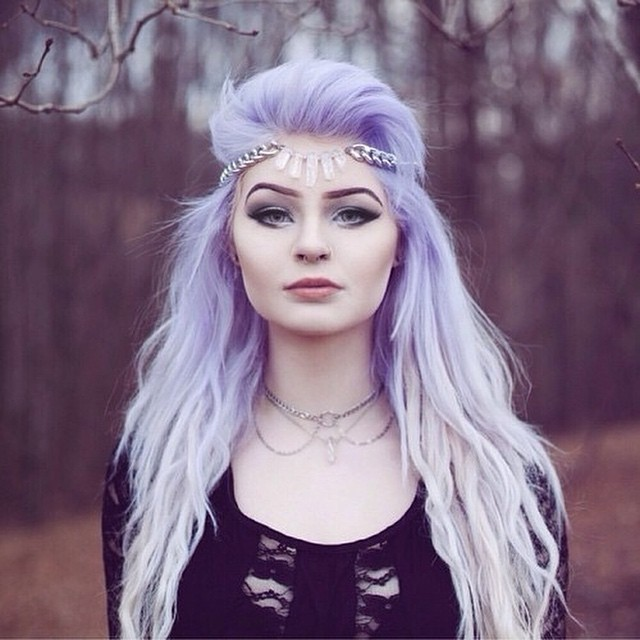 Gothic Light Purple to White Blonde