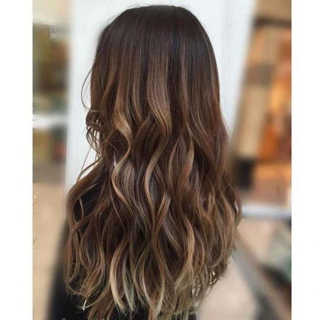 Hazelnut and Caramel Ombre