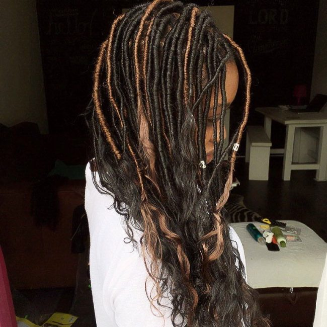 Highlighted Goddess Locs