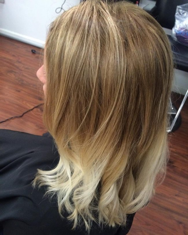 Honey Blonde Streaks 86