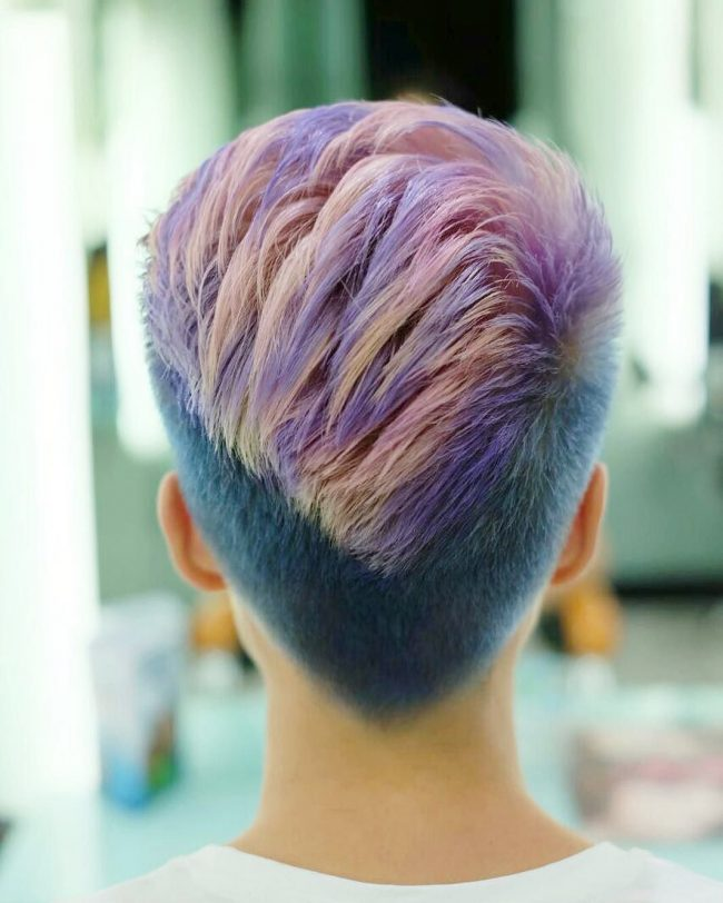 Inspiring V-Back Haircut with Undercut