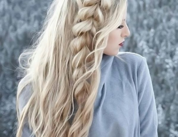 Light Ashy Blonde with Side Braid