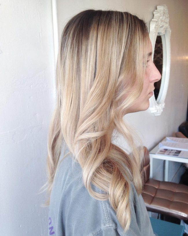 Light Blonde Hair with Balayage Highlights